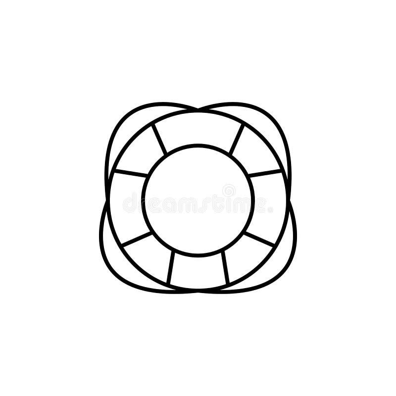 Viaggio, direzione, icona del profilo della ruota Elemento dell'illustrazione di viaggio I segni e l'icona di simboli possono ess royalty illustrazione gratis