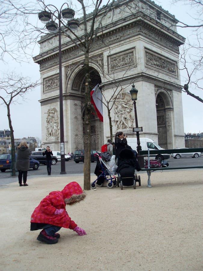 Viaggio Europa dell'arco trionfale di Parigi fotografie stock libere da diritti