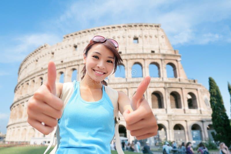 Viaggio felice della donna in Italia immagini stock libere da diritti