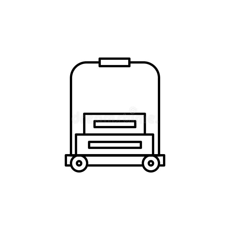 Viaggio, icona del profilo dell'iglù Elemento dell'illustrazione di viaggio I segni e l'icona di simboli possono essere usati per illustrazione vettoriale