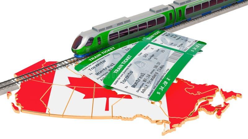 Viaggio nel Canada, concetto della ferrovia rappresentazione 3d royalty illustrazione gratis