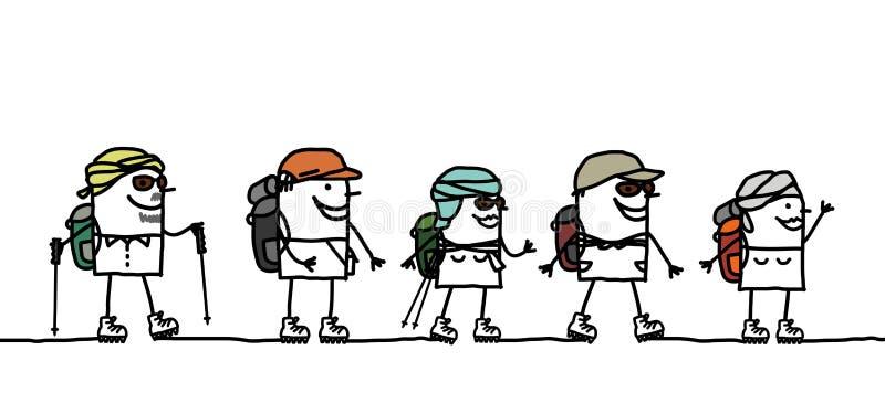 Viaggio nel deserto illustrazione di stock