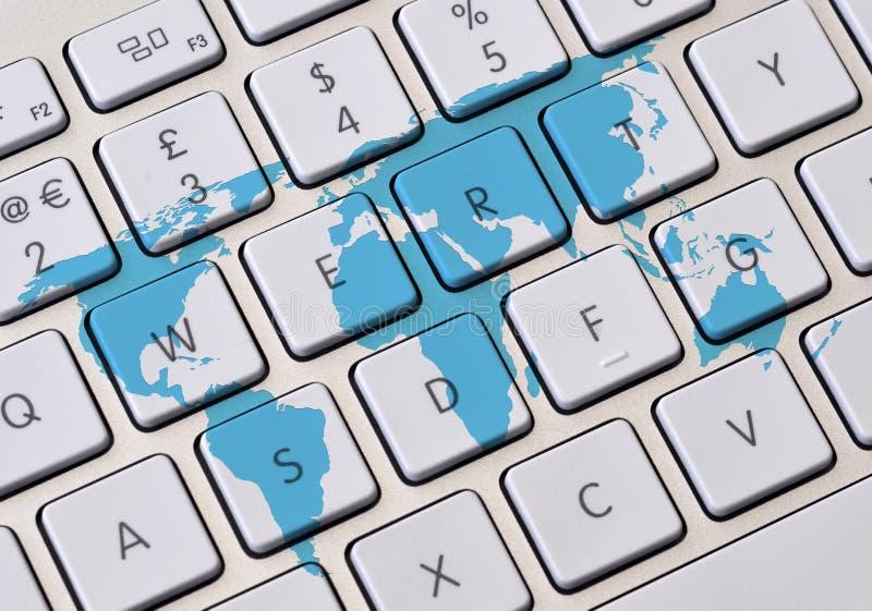 Viaggio online illustrazione di stock