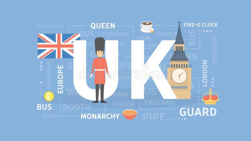 Viaggio Regno Unito illustrazione vettoriale