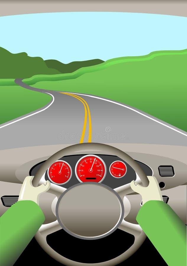 Viaggio stradale illustrazione di stock