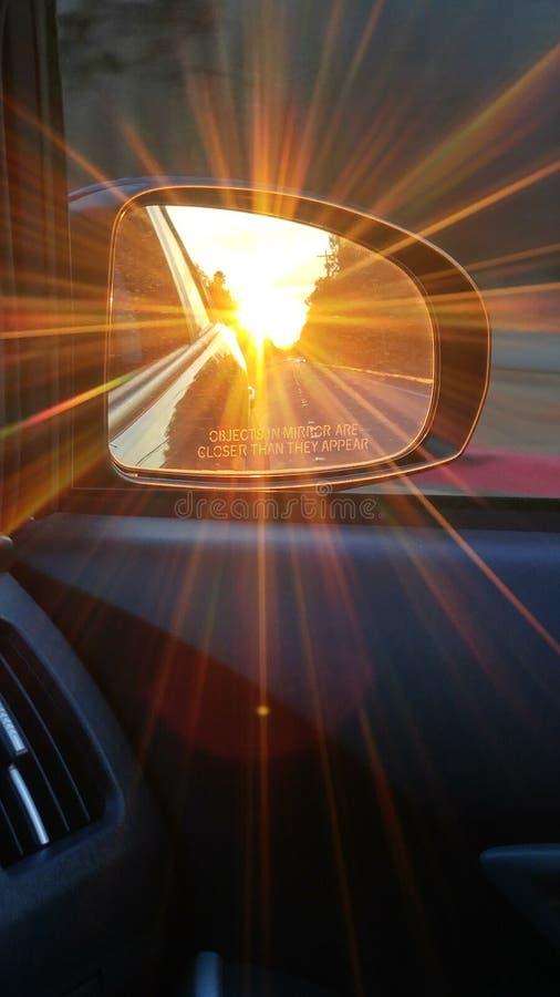 Viaggio stradale che guida nel mio Prius fotografia stock