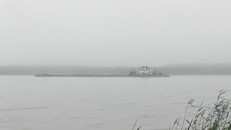 Viaggio sul fiume Volga nella regione di Tver' fotografia stock
