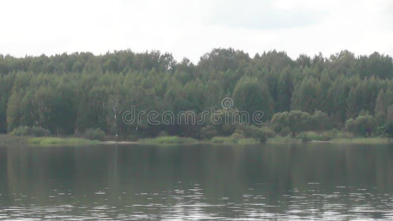 Viaggio sul fiume Volga nella regione di Tver' fotografia stock libera da diritti