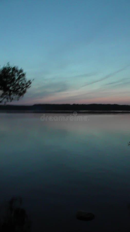 Viaggio sul fiume Volga nella regione di Tver' immagine stock libera da diritti