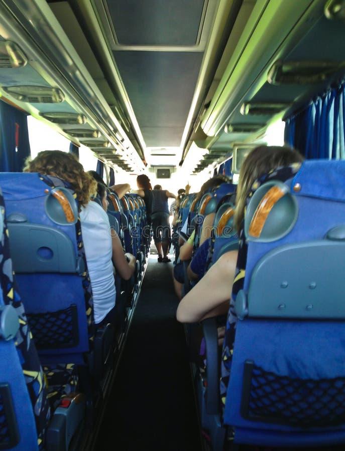 Viaggio in un bus fotografia stock libera da diritti