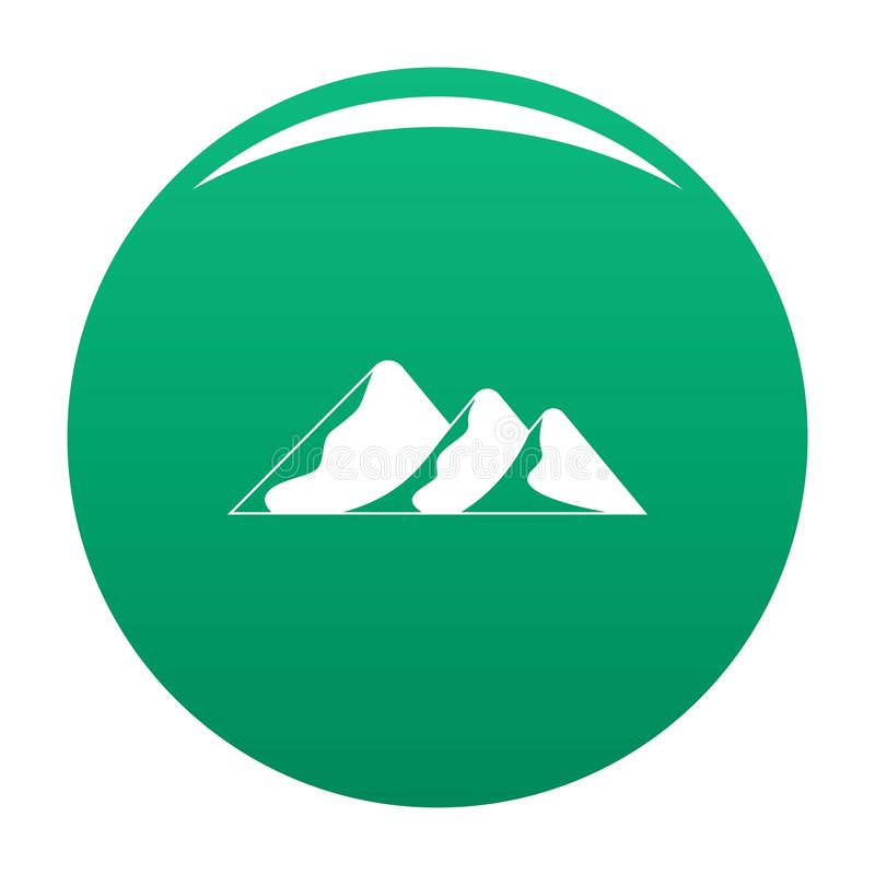 Viaggio a verde di vettore dell'icona della montagna royalty illustrazione gratis