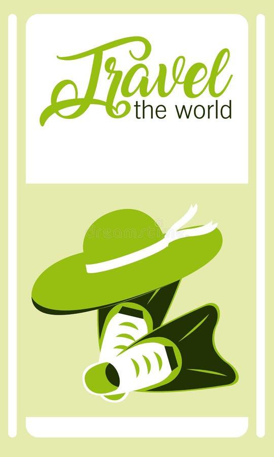 Viaja o cartão do mundo ilustração do vetor
