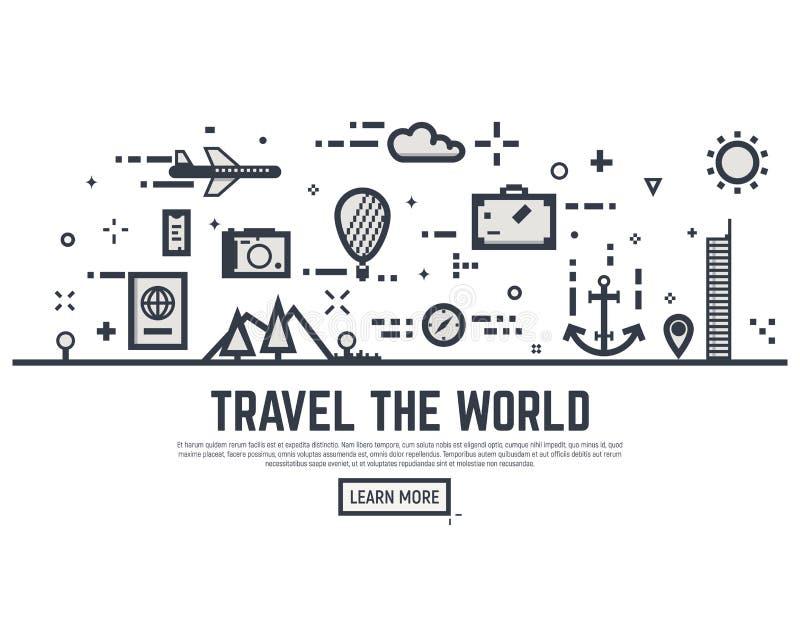 Viaja o mundo ilustração stock