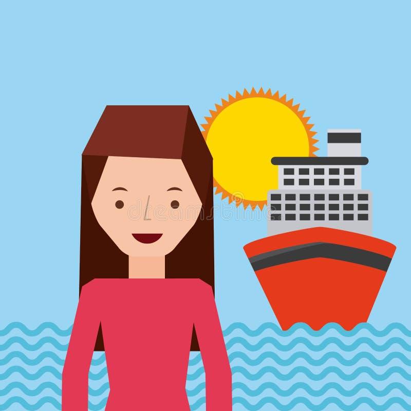 viaja un diseño de la gente ilustración del vector