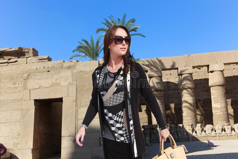 Viajante bonito - Egito imagens de stock royalty free