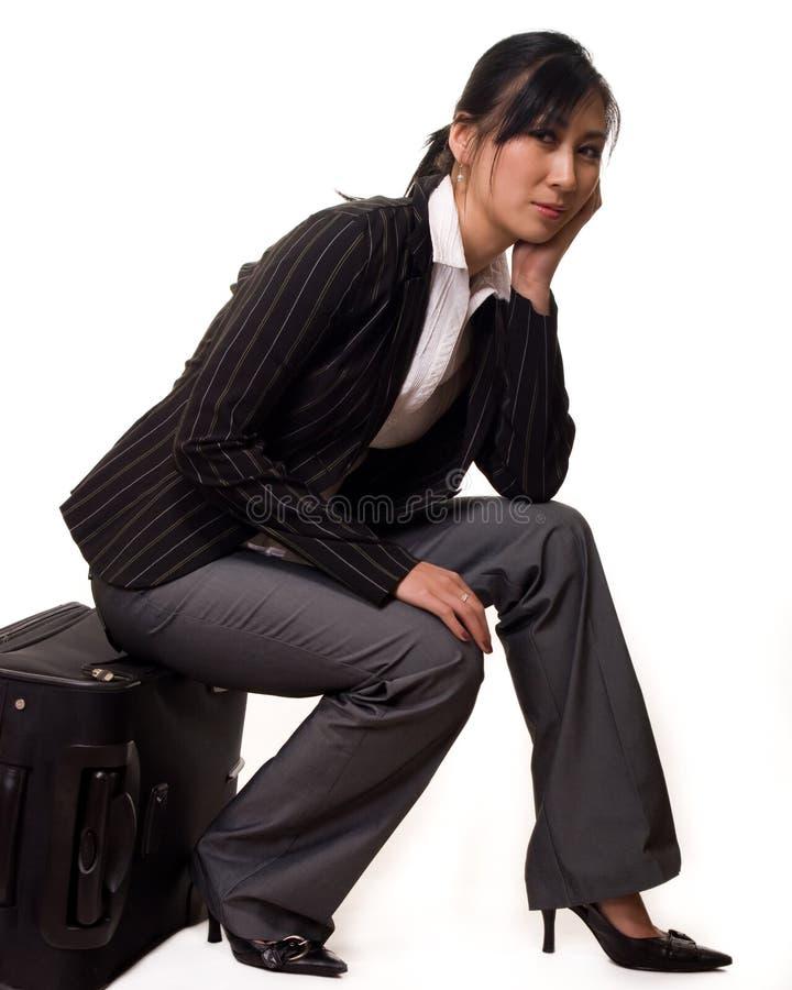 Viajante de espera furado fotos de stock royalty free