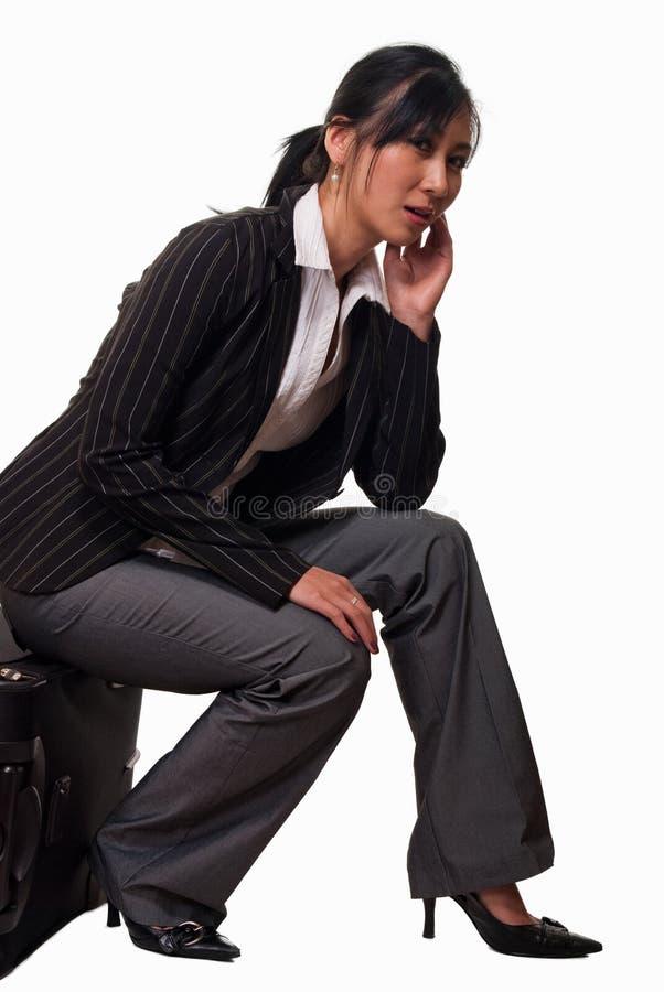 Viajante de espera furado fotografia de stock