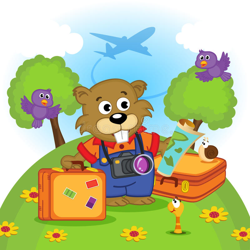 Viajante do castor ilustração stock