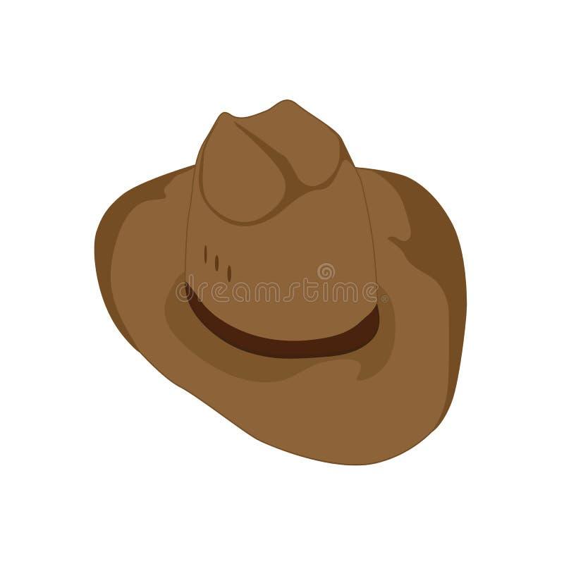 Viajante do chapéu de vaqueiro de Brown ilustração royalty free