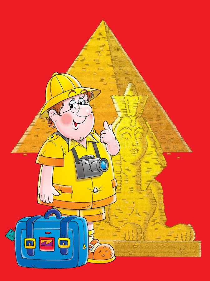 Viajante em Egipto ilustração royalty free