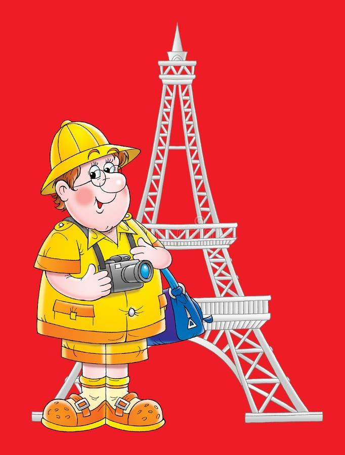 Viajante em Paris ilustração do vetor