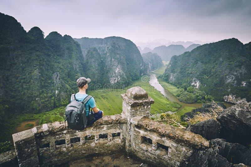 Viajante em Vietname foto de stock