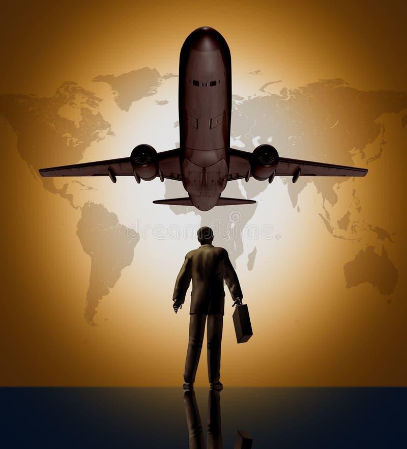 Viajante global do negócio ilustração stock