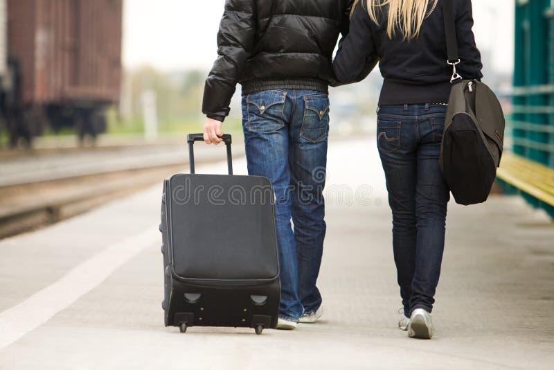 Viajantes foto de stock
