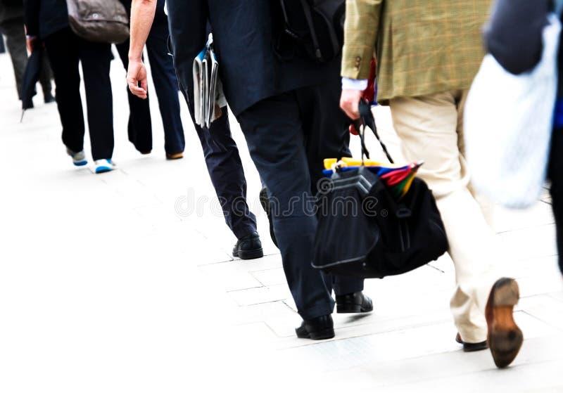 Viajantes de bilhete mensal imagens de stock