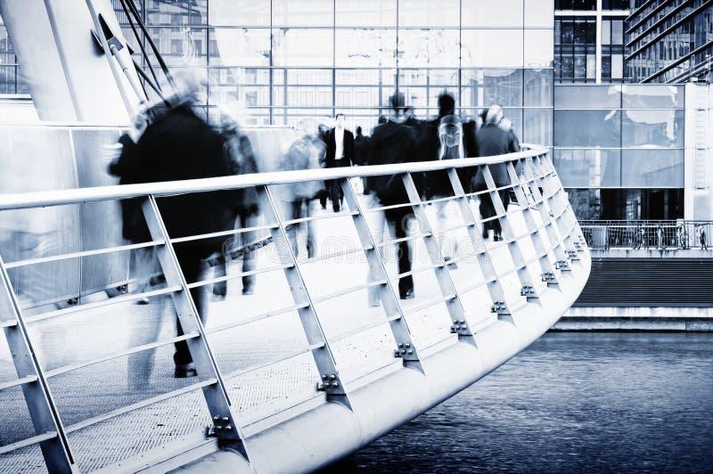 Viajantes de bilhete mensal, Londres imagem de stock