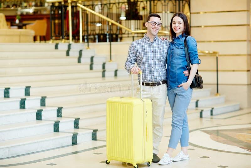 Viajantes enamorado fotografia de stock royalty free