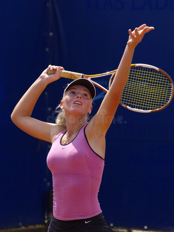 Viaje 2007 del tenis WTA - Tadeja Majeric (SLO) fotografía de archivo