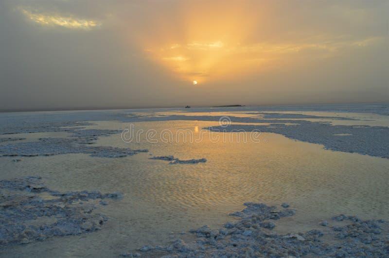 Viaje africano, a través del lago más salado fotos de archivo libres de regalías