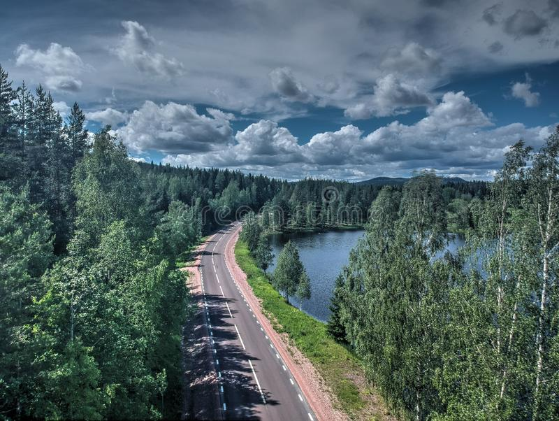 Viaje al lago fotografía de archivo
