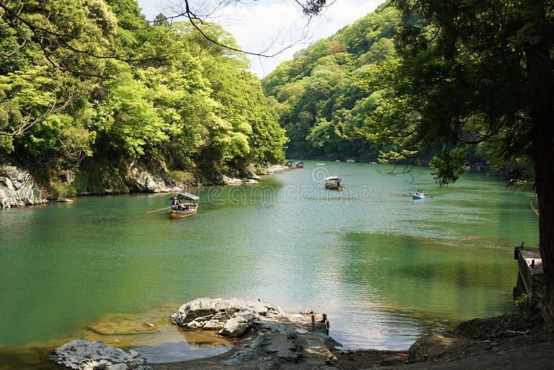 Viaje Arashiyama Kyoto del barco fotos de archivo libres de regalías