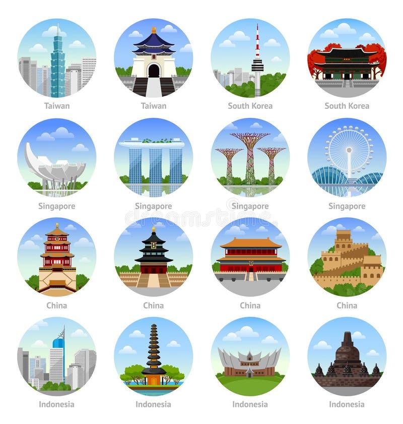 Viaje a Asia stock de ilustración