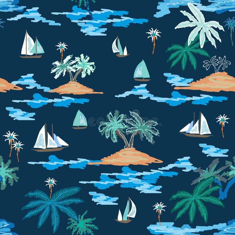 Viaje azul de la laguna stock de ilustración