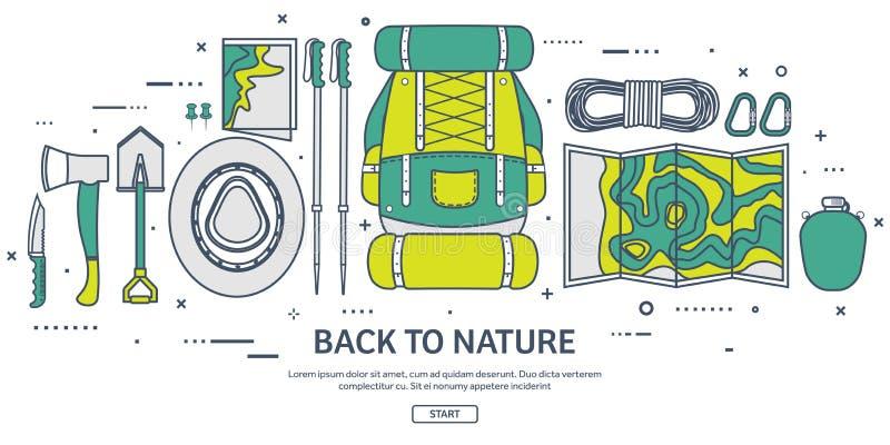 Viaje, caminando el fondo Línea arte Escalada Turismo internacional, viaje a la naturaleza, viaje del mundo Vacaciones de verano libre illustration
