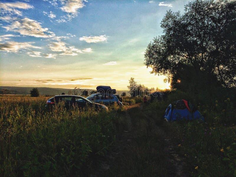 Viaje con acampar fotos de archivo libres de regalías