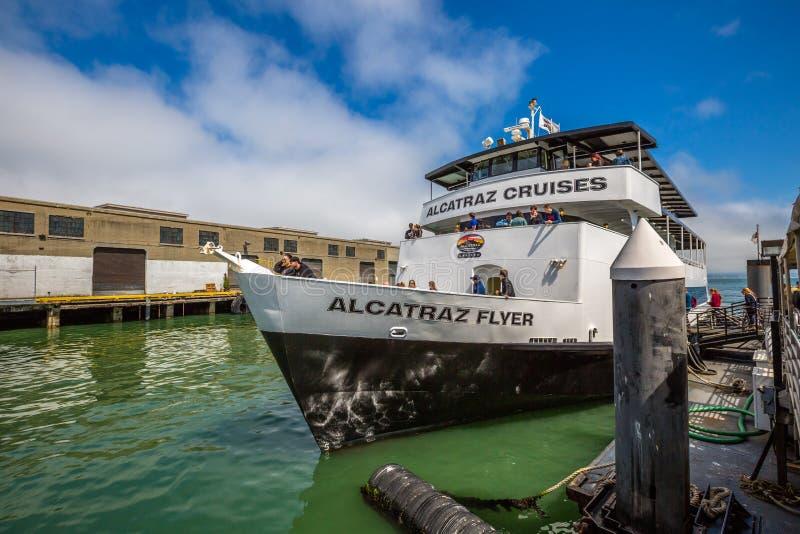 Viaje de Alcatraz Flayer imagenes de archivo