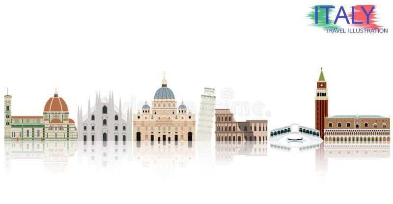 Viaje de Italia libre illustration