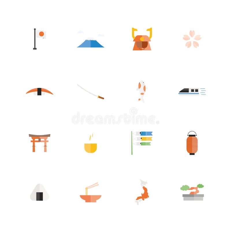 Viaje de Japón Icono famoso de los viajes y de las actividades libre illustration