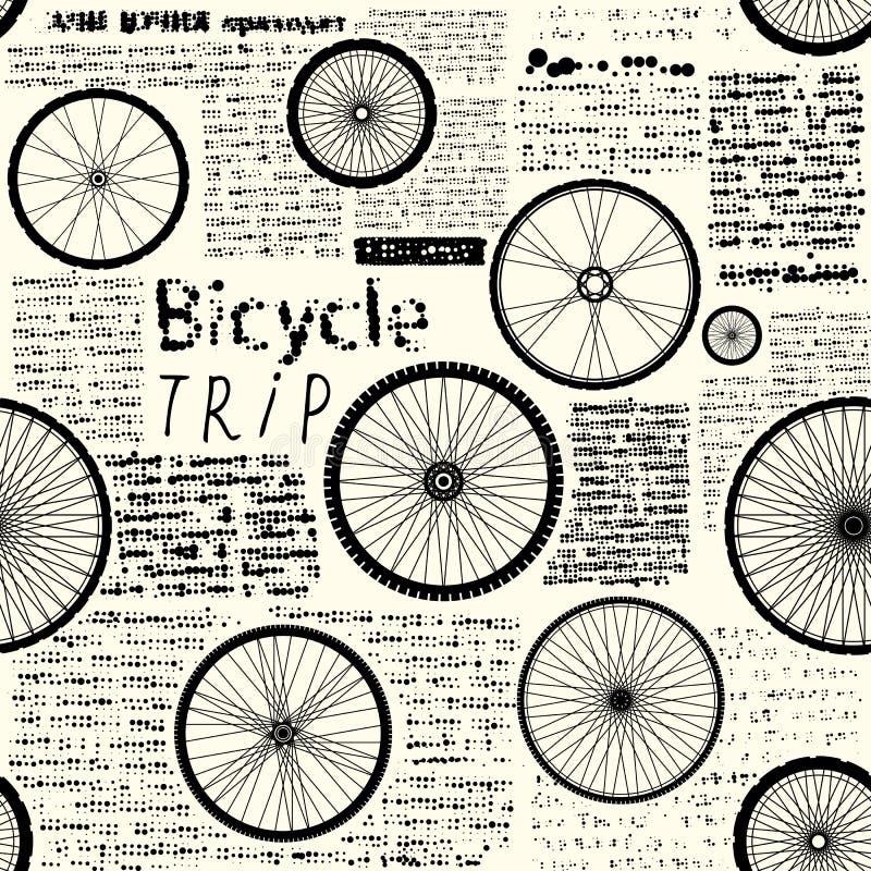 Viaje de la bicicleta ilustración del vector