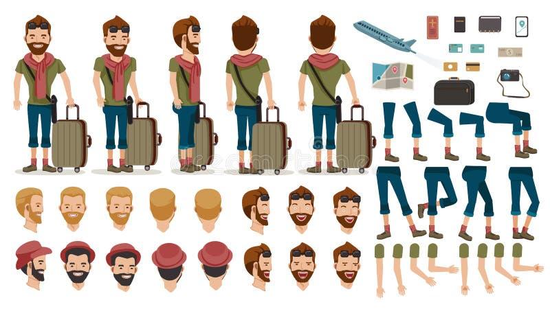 Viaje de la gente stock de ilustración