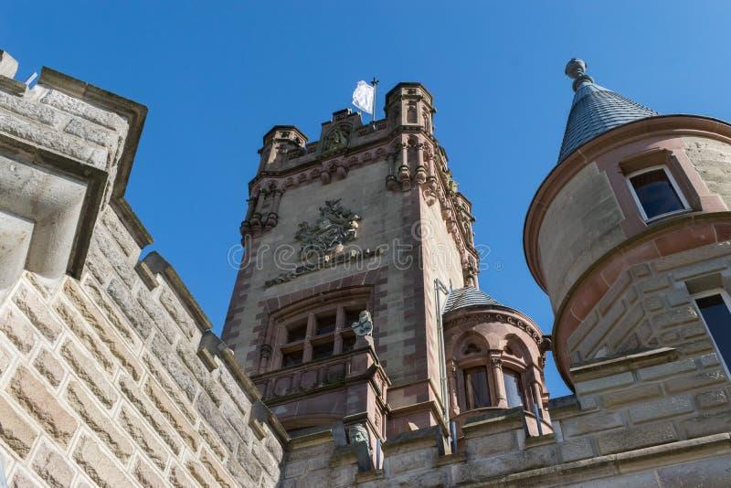 Viaje de la señal de Bonn Alemania del castillo de Drachenburg del tiro del detalle imagen de archivo libre de regalías