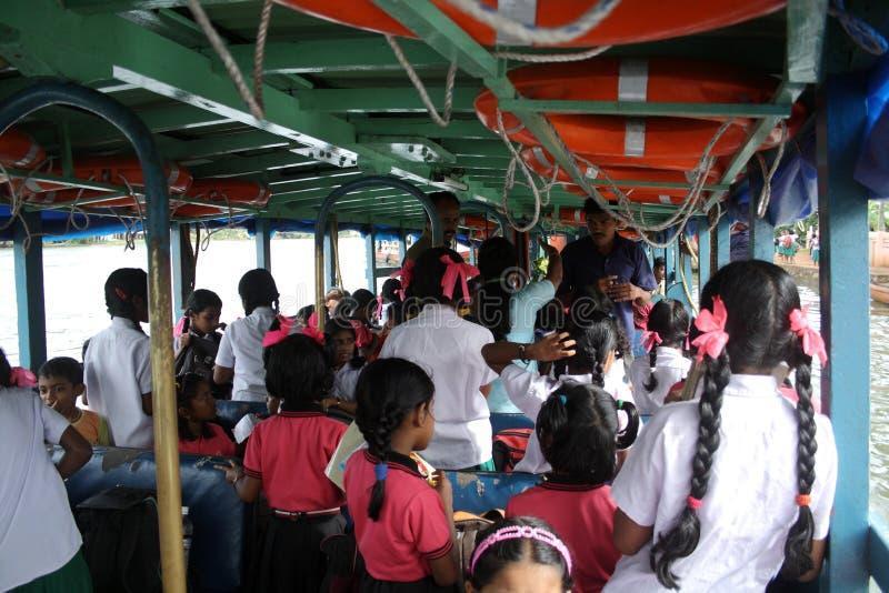 Viaje de los alumnos en barco imágenes de archivo libres de regalías