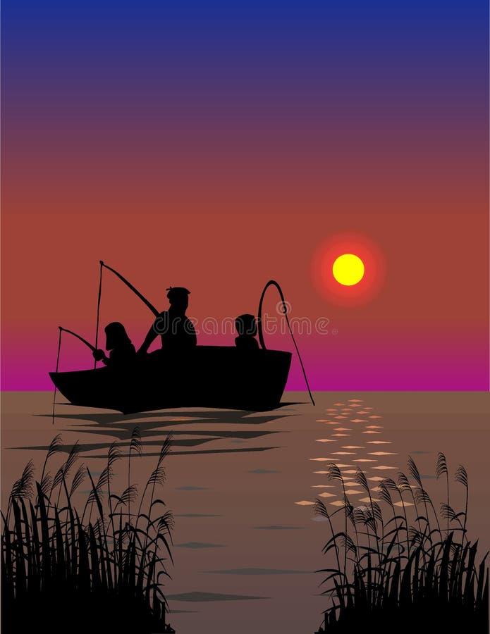 Viaje de pesca libre illustration