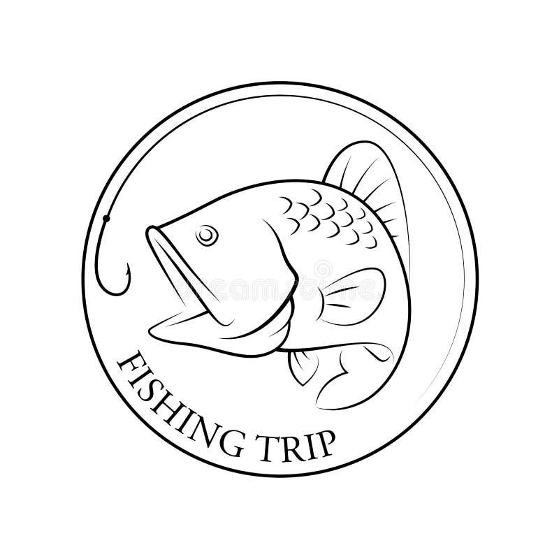 Viaje de pesca gráfico, vector ilustración del vector