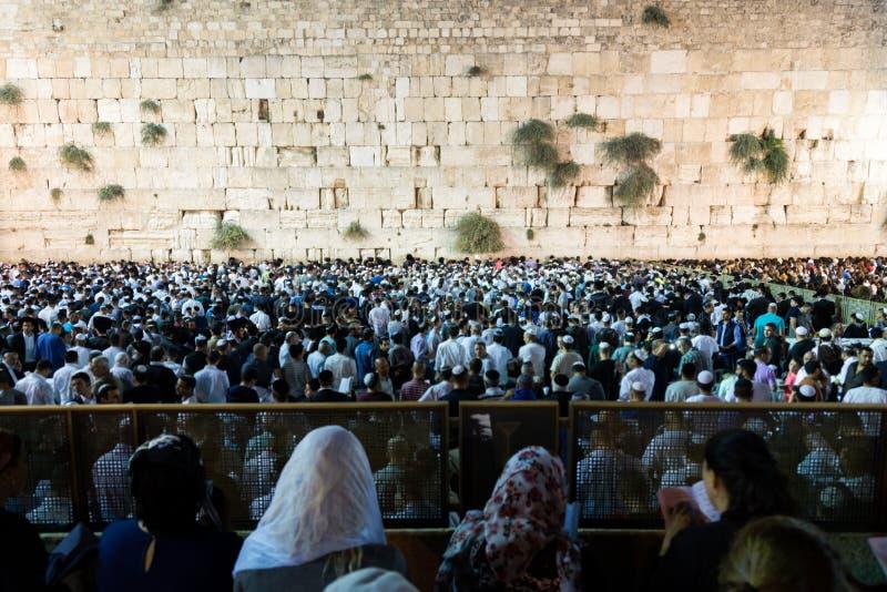 Viaje de Selichot en Jerusalén imagen de archivo libre de regalías