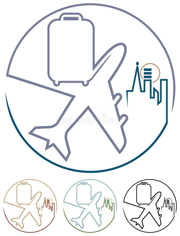 Viaje del aire ilustración del vector